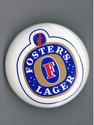 """Fosters Lager 2.25"""" Pinback Button Australian 4 Beer Brewery Advertising Import"""