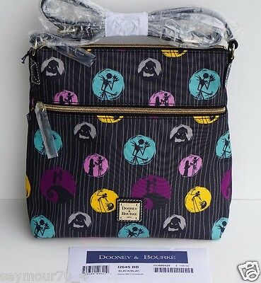 NWT Disney Dooney & Bourke Nightmare Before Christmas Nylon Letter Carrier $188