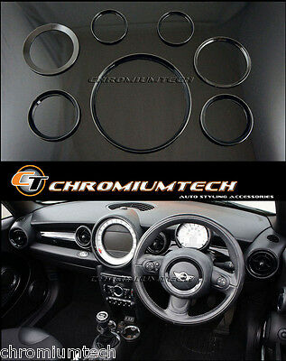 MINI Cooper/S/One R56 Hatch R58 Coupe R59 Roadster  BLACK Interior Ring Kit NEW