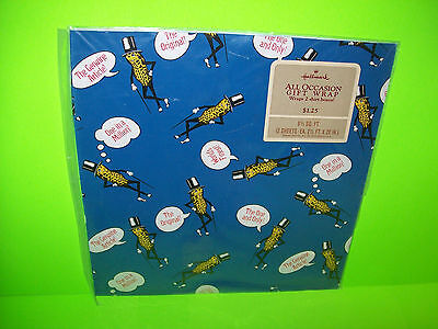PLANTERS Mr Peanut Vintage Original Sealed Pack Of Hallmark Gift Wrapping Paper