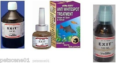 ESHA EXIT 20 180 500 ml WHITESPOT TREATMENT ALL SPOT VELVET TROPICAL FRESHWATER
