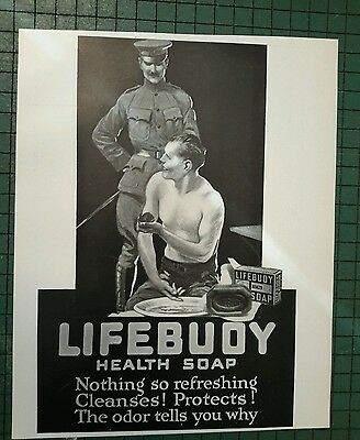 LIFEBUOY SOAP  ad page 1917 MILITARY Soldier