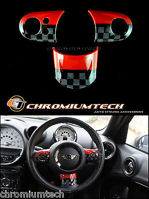 MINI Cooper/S/ONE JCW Style MF Steering Wheel Cover R55 R56 R57 R58 R59 R60 R61