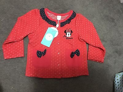 Brand New Disney Baby Girl Red Coat Size 2