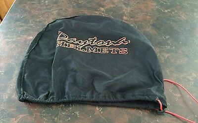 Daytona Drawstring Helmet Bag Motorcycle black orange
