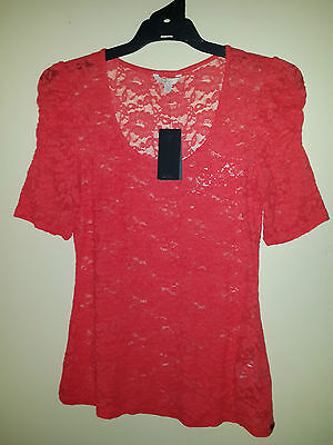 Guess Lace Top Red Size M