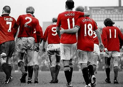 MANCHESTER UNITED LEGENDS Best Giggs Scholes Law Cantona Print Poster A3 A4