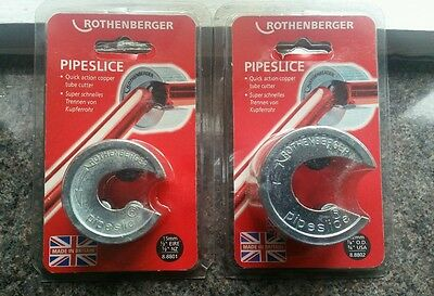 2 X ROTHENBERGER COPPER PIPE CUTTER / SLICE 15mm/22mm