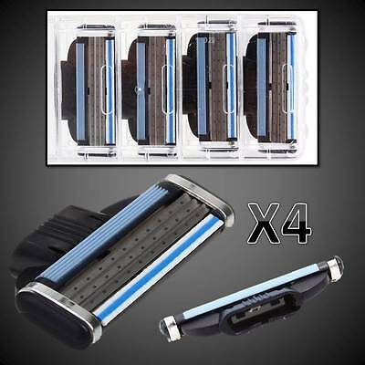 4 x Generic Blades Cartridges for Gillette Mach3 Shaving Razor New Free Delivery