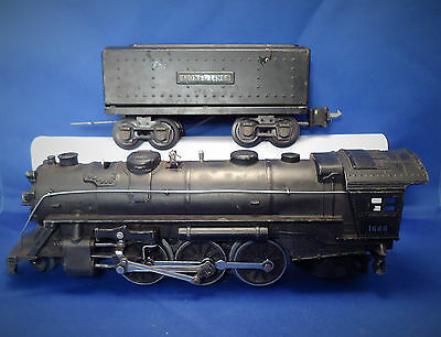Lionel Prewar 1666 Locomotive with 2689W Whistle Tender with Box Coupler