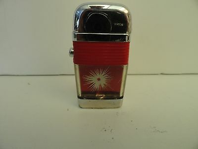 Vintage Scripto Mini VU Lighter Bullet Hole with Red Band