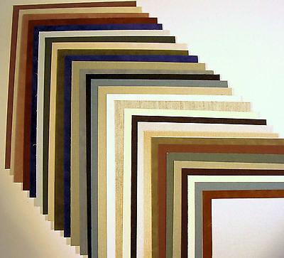 Fabric Matboard Blanks 30 for Framing or Crafts Uncut Matting Archival 12 x 16""