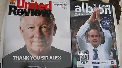 Manchester United 2 Original Progs With Sir Alex Ferguson In Charge  Home&away