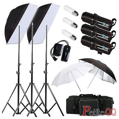 900W Digital LED pantalla foto Studio iluminación Flash Kit Strobe ventilación E