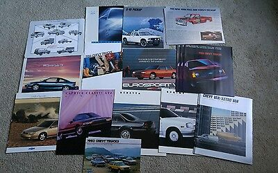 Lot of Car Truck Brochures for chevy 80's and 90's