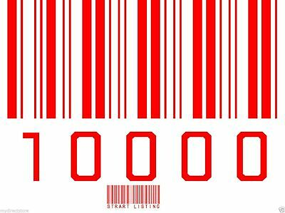 10000 UPC/EAN Numbers Barcodes Bar Code Number + printable images GS1-issue