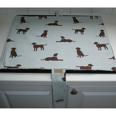 Mat Pad Cover Everhot 60 Range Chocolate Lab Labrador Labradors Dogs Duck Egg