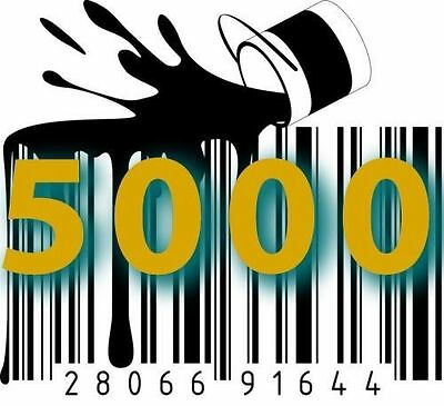 5000 UPC EAN Codes Number Barcode Printable for Amazon Ebay Lifetime Guarantee