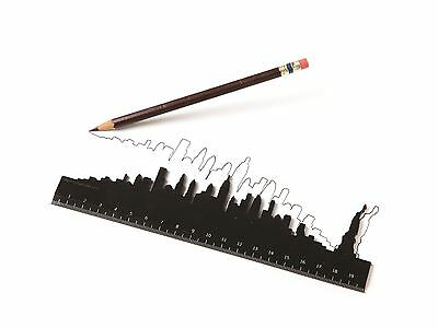 Iconic City Skyline 20cm Ruler New York Paris London By Luckies Gift