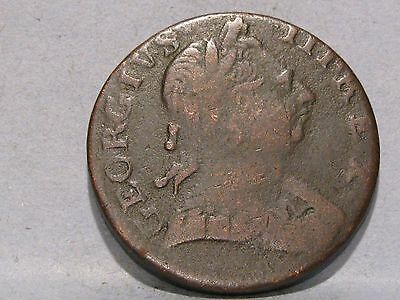 George Iii Copper Halfpenny Coin Dated 1775 (6)