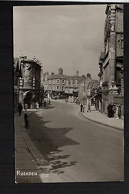 Rushden - plain back real photographic postcard size card