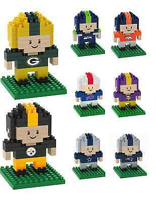 NFL Football Team Logo 3D BRXLZ Puzzle Player Set - Pick Your Team!