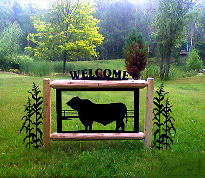 #bull 15241-2-Corn   Cows-Outdoor Signs-Farm & Country Signs-Farm Animals*