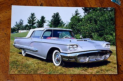 Photo 1959 Ford Thunderbird In Silver - In Granby Quebec Canada 1999 - Vintage