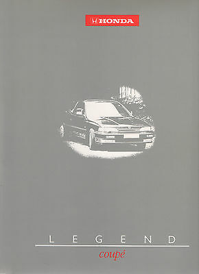 Honda Legend Coupe Mk1 Launch Press Information/Specification Pack -  1988