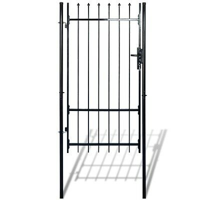 New Garden Fence Gate with Spear Top (single) 100 x 150 cm Powder-coated Steel