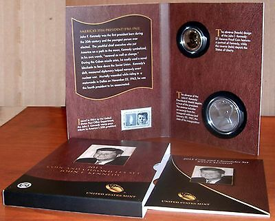 The 2015 John F Kennedy Coin And Chronicles (Reverse Proof Dollar) Set