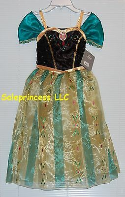 NWT Disney Store Frozen Anna Coronation Princess Costume Dress Up 5/6 7/8 9/10