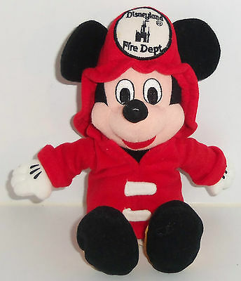 mickey mouse fire department soft toy
