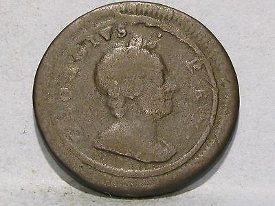 George I Copper Farthing Coin Dated 1719