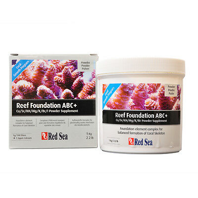 Red Sea Reef Foundation Abc+ Supplement - 1Kg 2.2Lbs Dry Aquarium Supplement