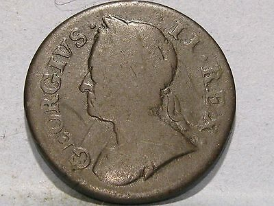 George Ii Copper Farthing Coin Dated 1754