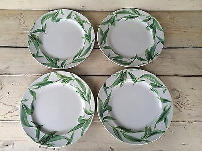 4 Spode Wiliams Sonoma English Floral Charger Platter Large Dinner Plates Leaves