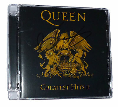 Brian May Signed Autograph Queen Greatest Hits II CD Rare 2011 Re-Master