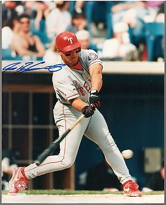 Ivan Rodriguez Texas Rangers autograph 8x10 photo BATTING ACTION., Pudge, MLB