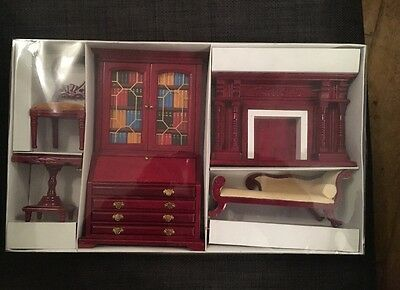 Dolls House Library Furniture Brand New In Box