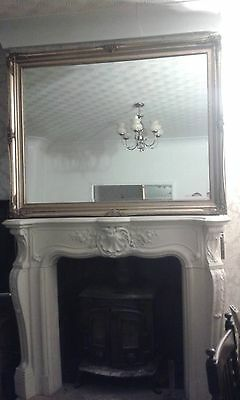 Huge French Gilded Reproduction Antique Gilded Ornate Mirror 140Cmx110Cm