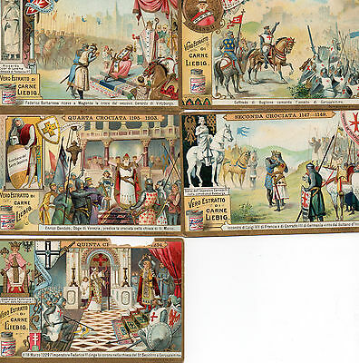 The Crusades 5 cards of the first 5 crusades.