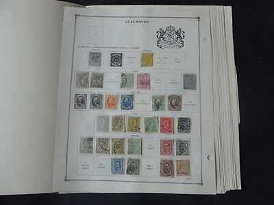 Luxembourg 1859-1958 Mint/Used Stamp Collection on Album Pages