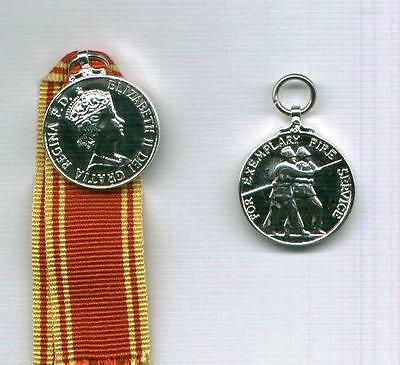 Miniature of the FIRE SERVICE LSGC MEDAL- EIIR