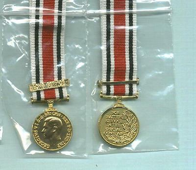 Miniature of SPECIAL CONSTABULARY MEDAL with LONG SERVICE Clasp- Geo VI