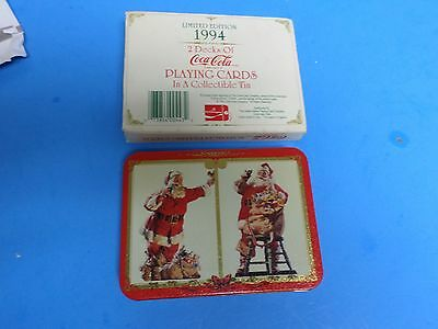 1994 Vintage 2 DECKS SEALED MIP COCA COLA PLAYING CARDS w 2 DIFFERENT SANTA ARTS