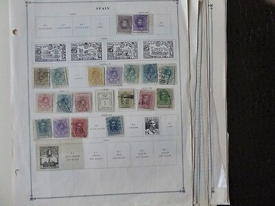 Spain 1902-1939 Mint / Used Stamp Collection on  Album Pages