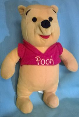 "VTG'90's DISNEY WINNIE THE POOH MATTEL STUFFED TOY. 12""H. EX.CONDITION. CUTE!"