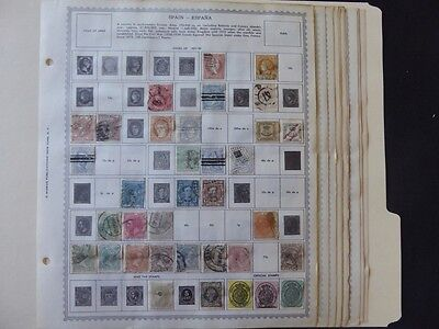 Spain 1851-1960  Mint/Used Stamp Collection on Minkus Album Pages