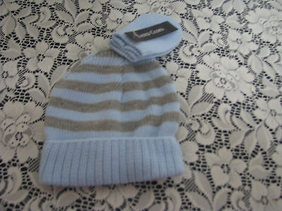 New  Beanie & mittens, OS, toddler Blue.gray